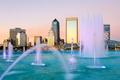 Картинка дизайн, дома, Флорида, США, фонтаны, Jacksonville
