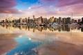 Картинка отражение, дома, яхты, лодки, Канада, Ванкувер, гавань