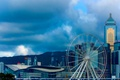 Картинка башня, небоскреб, дома, Гонконг, Китай, колесо обзора