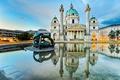 Картинка дизайн, отражение, Австрия, водоем, дворец, скульптуры, Vienna