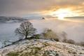 Картинка зима, горы, природа, туман