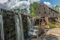 Картинка плотина, мельница, США, Северная Каролина, Рейли, Greenbrook Farms
